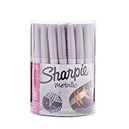 Sharpie 9597 Fine Point Permanent Marker, Metallic, 36-Pack Canister by Sharpie