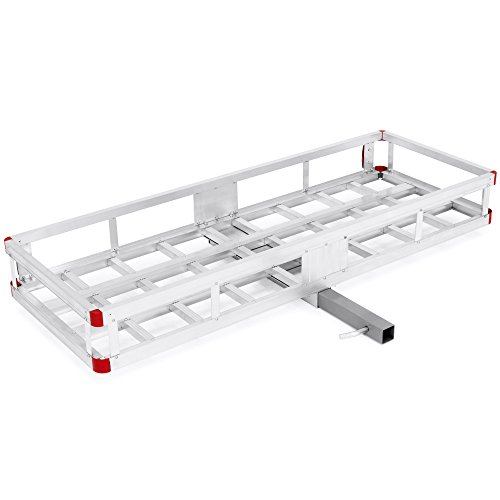 Best Choice Products 60x22in Hitch Mount Aluminum Cargo Luggage Carrier, 500lb Capacity ()