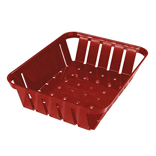 TableTop King 4403105 Stackable Red Munchie Basket 10 3/8'' x 8'' - 12/Case