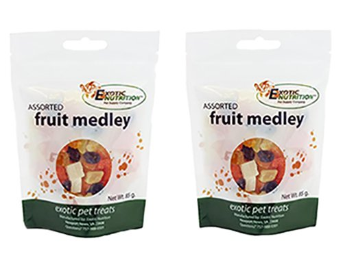 Foods Fruit Medley (Fruit Medley Treat 85 g. (2 Pack) - Healthy Treat for Small Animals)