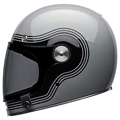 Bell Bullitt Full-Face Motorcycle Helmet (Flow Gloss Gray/Black, Large): Automotive