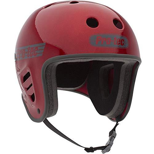 (Pro-Tec Red Metal Flake Classic Skateboarding Helmet (L, Red))