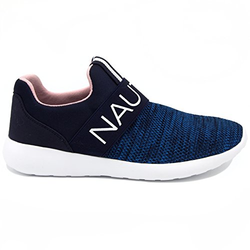Nautica Women Fashion Slip-On Sneaker Jogger Comfort Running Shoes-CANVEY-Navy-8
