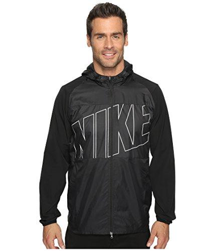 Nike Printed Packable Hooded Golf Jacket 2017 Black/Flat Silver Medium