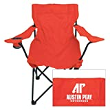 Austin Peay Deluxe Red Captains Chair 'AP Austin Peay Governors - Official Athletic Logo'