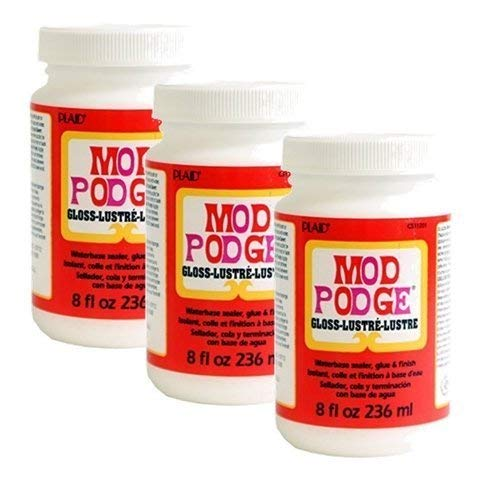 Mod Podge Waterbase Sealer, Glue and Finish (8-Ounce), CS11201 Gloss Finish (3 Pack)]()