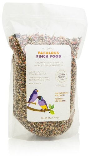 - Dr. Harvey's Fabulous Finch Blend, All Natural Food for Finches (4 pounds)