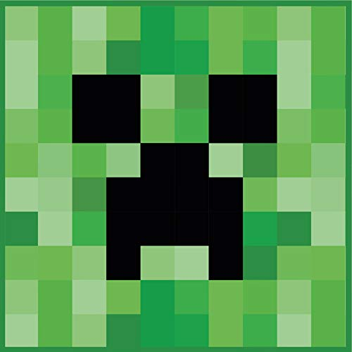 Character World Official Minecraft 'Creeper' Rug 80 x 80 cm Square Bedroom Rug Matches Bedding