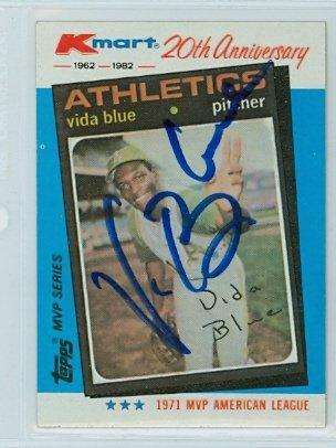 Athletics Oakland Autograph - Vida Blue AUTOGRAPH K-Mart Oakland Athletics