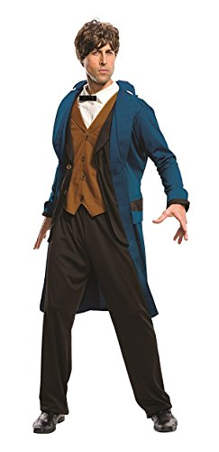 Beast Man Costume (Rubie's Costume Co. Men's Fantastic Beasts Where to Find Them Deluxe Newt Scamander, As Shown, Standard)