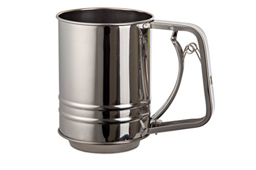 Handed One Sifter Flour - Kitchen Winners Stainless Steel Flour Sifter