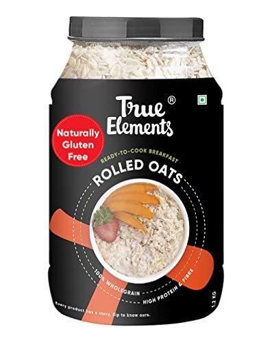 True Elements Rolled Oats 1.2 kg – Gluten Free Oats, Breakfast Cereal, Diet Food for Weight Loss
