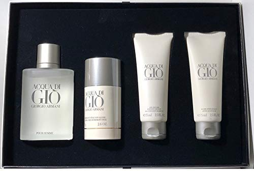 Giorgio Armani Acqua Di Gio Pour Homme 100 ml EDT 75 g Deodorant Stick 75 ml Shower Gel 75 ml After-Shave Balm