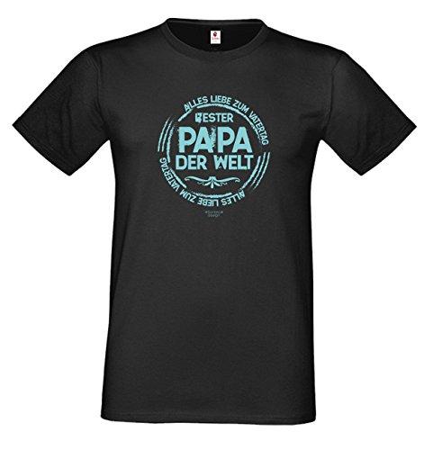 T-Shirt - Bester Papa der Welt - Alles Liebe zum Vatertag - lustiges Sprüche Shirt als Geschenk zum Vatertag für Väter mit Humor