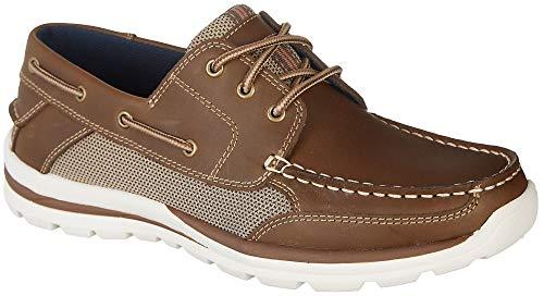Reel Legends Mens Spinnaker Boat Shoes 13 Dark Brown
