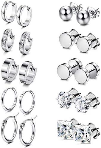 ORAZIO Earrings Women Stainless Huggie product image