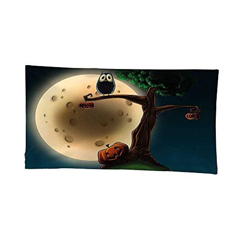 Decor Tapestry Wall Hanging (80W x 60L Inch) Home Decoration Wall Tapestry Hanging Halloween Decorations Cute Cartoon Spooky Halloween Tree Large Eyed Owl Pumpkin Decor Picture Multi. for $<!--$56.99-->