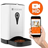 Best Choice Products 4.5L Smart Automatic Pet Feeder w/HD Camera, Smartphone App, Portion Control, 2-Way Audio – White