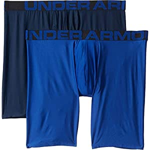 Under Armour Men's Tech 9-inch Boxerjock 2-Pack, Royal (400)/Academy, Medium