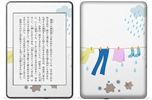 igsticker kindle paperwhite 第4世代 専用スキンシール キンドル ペーパーホワイト タブレット 電子書籍 裏表2枚セット カバー 保護 フィルム ステッカー 015530 服 選択 雨