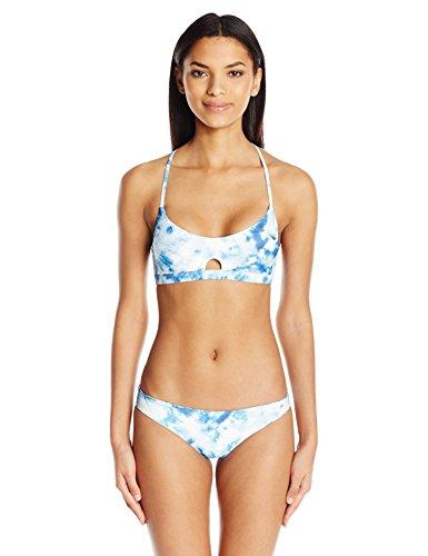 Seafolly Women's Caribbean Ink Reversible Bralette Bikini Top, Blueindigo, 6