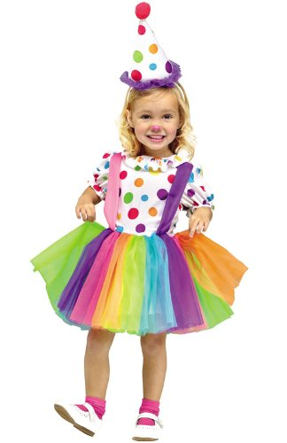 Fun World Costumes Baby Girl's Big Top Fun Toddler Costume, White, -
