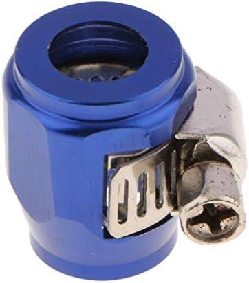 燃料/油/水ホース パイプ クリップ クランプ メタル製 AN4 簡単に組み立て 全4色 - ブラック