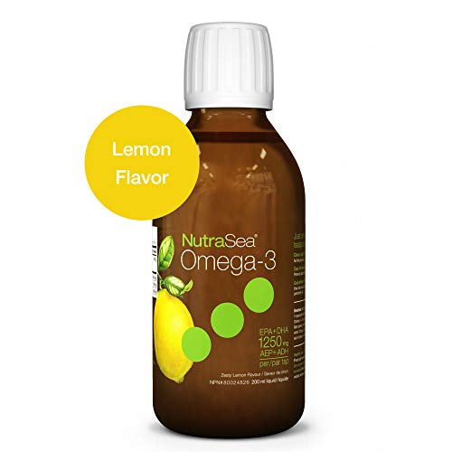 - Nature's Way NutraSea Omega 3 Supplement, GMO Free, Lemon, 200 mL Liquid