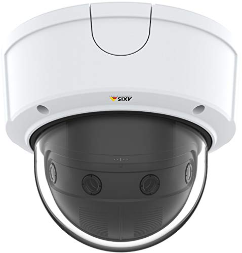 Axis Communications Panoramic Camera - Dome - Color - 8.3 MP - 4320 x 1920-4K - Fixed Focal - Audio - GbE - MJPEG, H.264, AVC - PoE Class 3 from Axis Communications