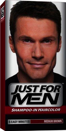 Just for Men shampooing-la couleur des cheveux, brun moyen 35, 1 application (Pack de 3)