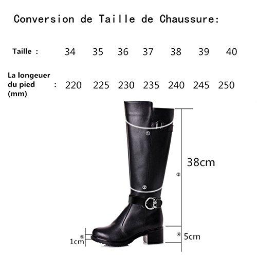 b0f8f0cc70 elegante HUSK SWARE Negro Botas de Cuero de Moda Para Mujeres Botas de Invierno  botas