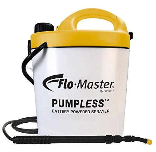 Hudson Tank Sprayer - Flo-Master by Hudson 5BPL Pumpless 1.3 Gallon Battery Powered Sprayer, White