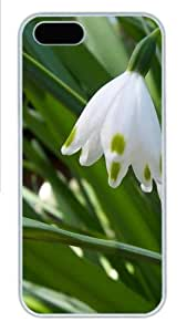 Apple iPhone 5S Case and Cover - snow drops Custom Polycarbonate Case Cover Compatible with iPhone 5S and iPhone 5 - White
