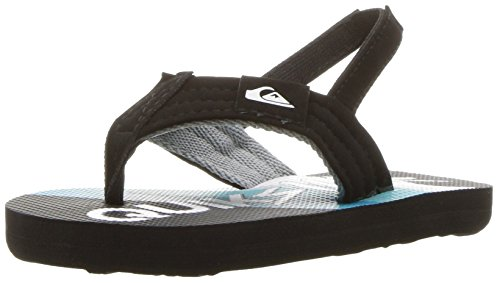 Quiksilver Boys' Molokai Layback Toddler Sandal, Black/Green/White, 4 M ()
