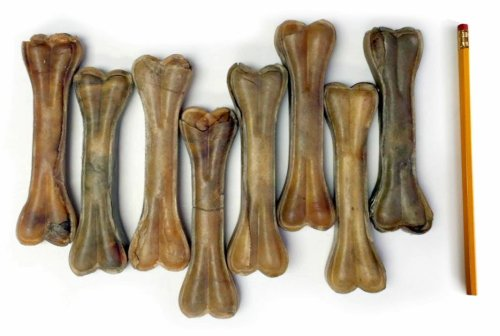 ValueBull All Natural 6.5 Inch Rawhide Pressed Dog Bone, 8 Count
