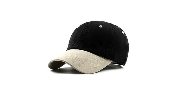 514975df9f7 Amazon.com   ALWLj New Two Color Patchwork Baseball Cap Snapback Casual  Women Men Hat