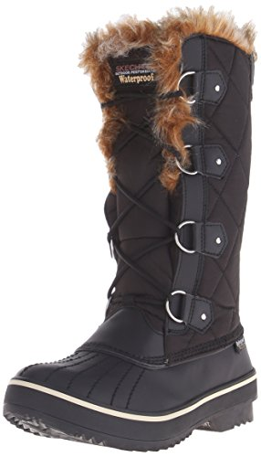 Skechers Women's Highlanders-Tall Quilt Snow Boot,Black,5...