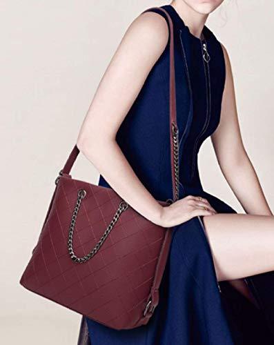 Winered NB Catena Capacità Bag Signore Fashion Messenger Casual Tracolla XZW Grande Borsa PqdA4Onw