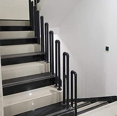 Pasamano de la Escalera Desván Negro Mate Hierro Forjado Barandillas de Escalera Exterior Interior para Ancianos y niños, Multi-tamaño Opcional: Amazon.es: Hogar