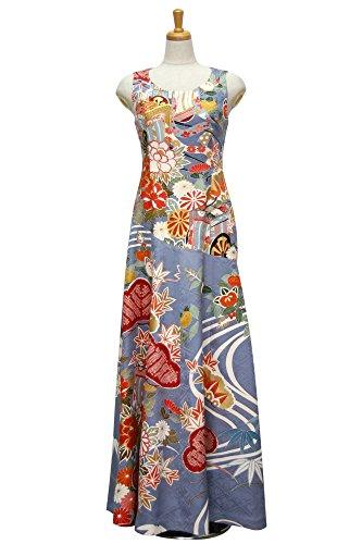 行商一緒に礼儀一点物の着物ドレス 結婚式や二次会、パーティーに海外でも人気の和ドレスを