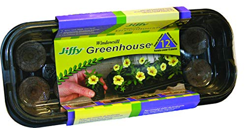 (Jiffy 36mm Windowsill Greenhouse 12- Plant Starter Kit)