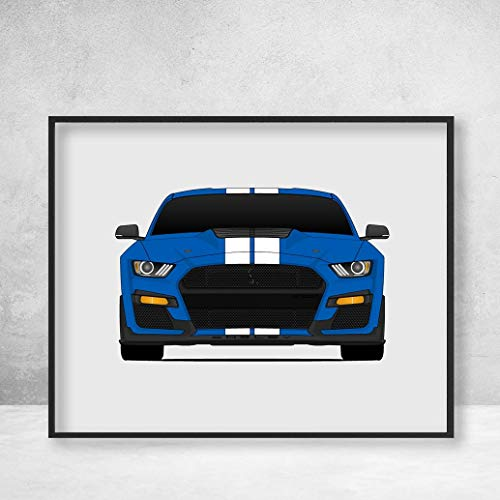 Shelby GT500 2020 S550 Ford Mustang Poster Print Wall Art Decor Handmade Carroll Shelby ()