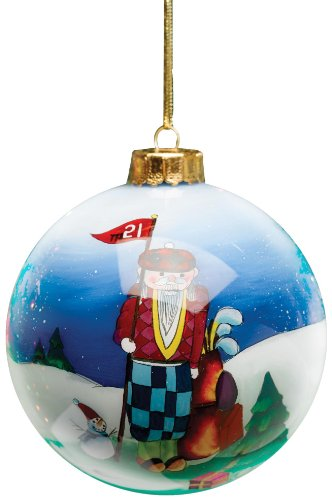 Golf Gifts & Gallery Clubhouse Collection Glass Winter Golfer Ornament