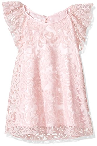 Biscotti Big Girls Fairest Of All Embroidered Shift dress, Pink, 7