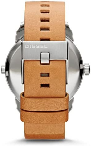Diesel Mini Daddy Blue and Black Dial Tan Leather Mens Watch DZ7308