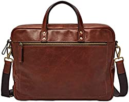 Fossil Men's Haskell Double Zip Workbag