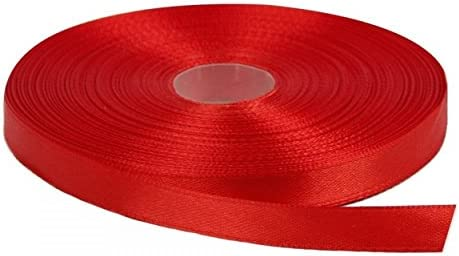 Red Solid Color 3//8-Inch Straight Edge Ribbon 100-Yards