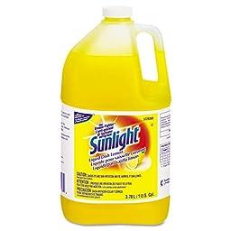 Sunlight 95729360 Liquid Dish Detergent, Lemon Scent, 1 gal Bottle (Case of 4)