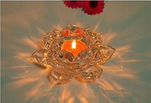 SwirlColor 5 pulgadas de cristal Lotus Portavelas votivas Holder