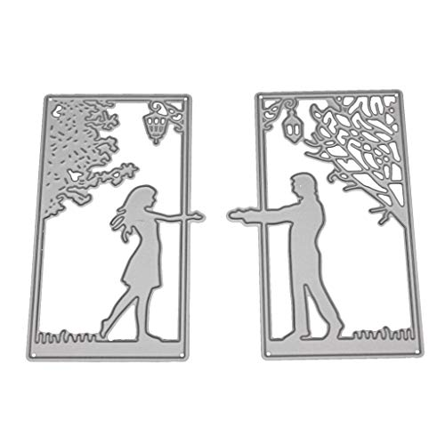 Couple Metal Cutting Dies Stencil DIY Scrapbooking Embossing Paper Home Decor ()